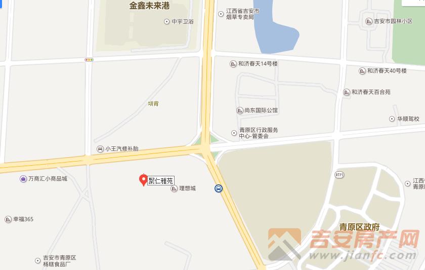 聚仁雅苑区位图-吉安房产网