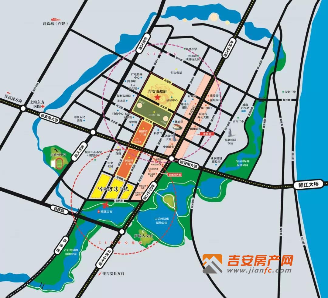 铜锣湾1号区位图-吉安房产网