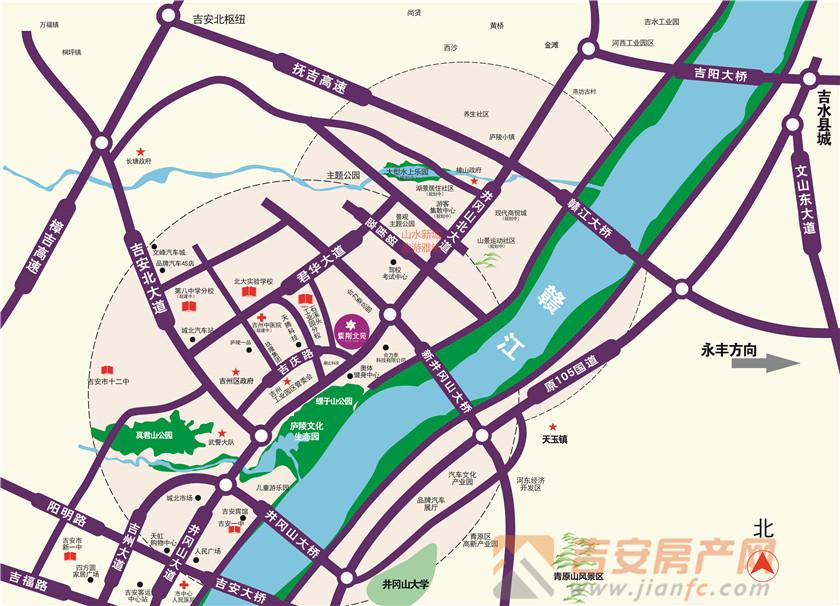 紫荆北苑区位图-吉安房产网
