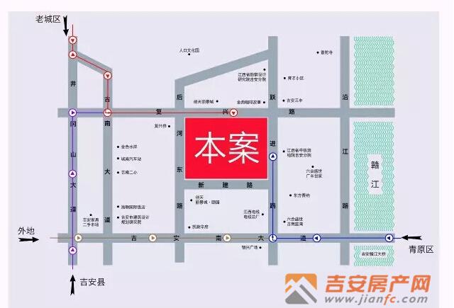 吉安房产网-城建花苑区位图