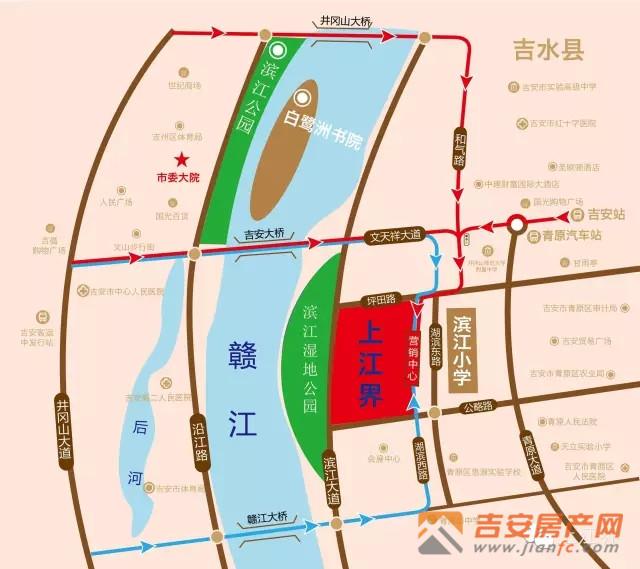 吉安房产网-上江界区位图