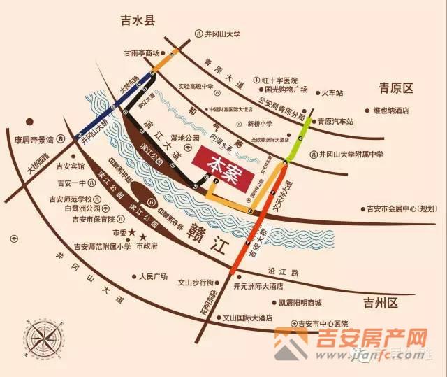 吉安房产网-康居外滩区位图