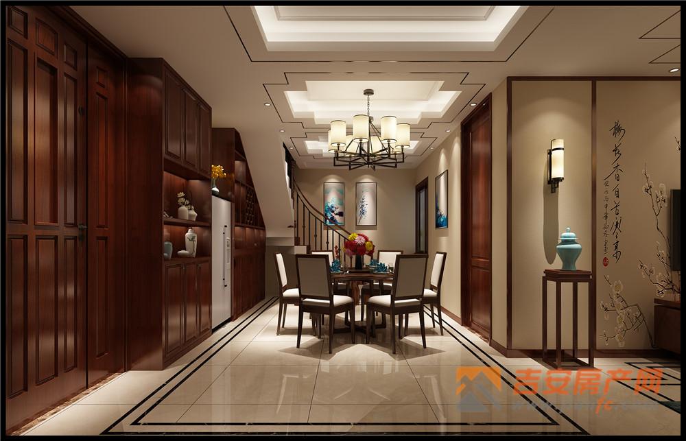 宜静苑复式楼中式装修风格-吉安房产网