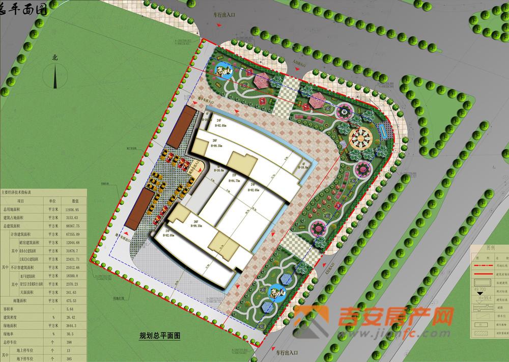 总规划平面图-吉安房产网