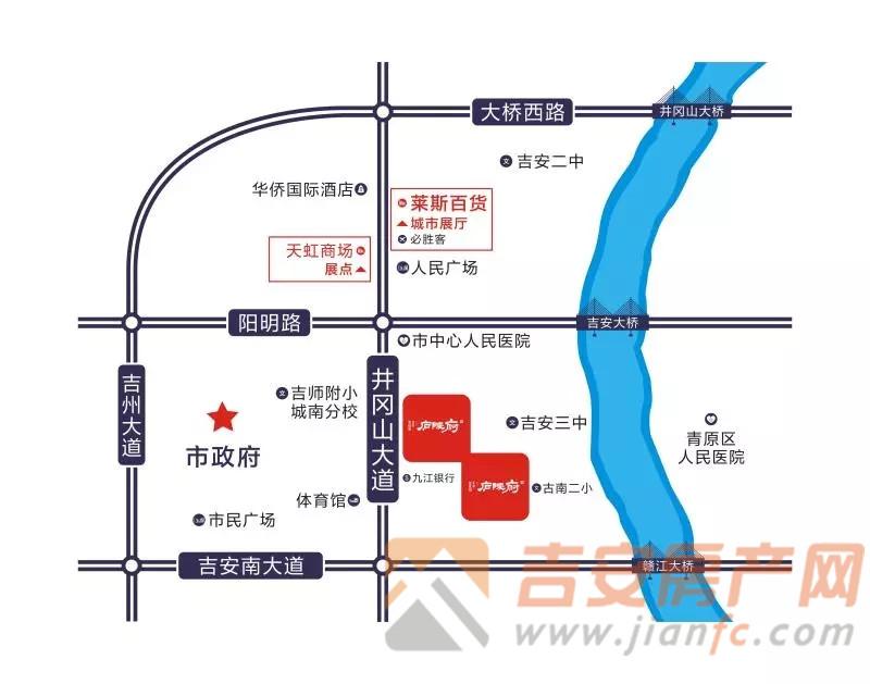 碧桂园正荣庐陵府区位图-吉安房产网