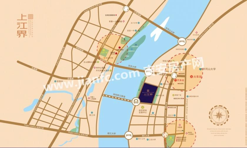 上江界位置图-吉安房产网