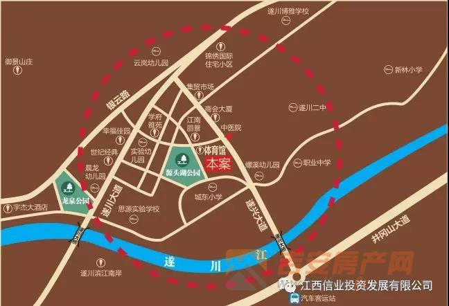 项目区位图-吉安房产网