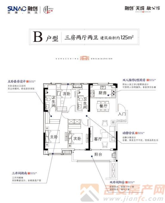 融创天成·荣公馆户型图-吉安房产网