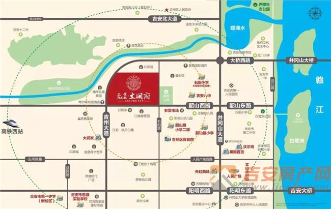 正荣阳光城·文澜府区位图-吉安房产网