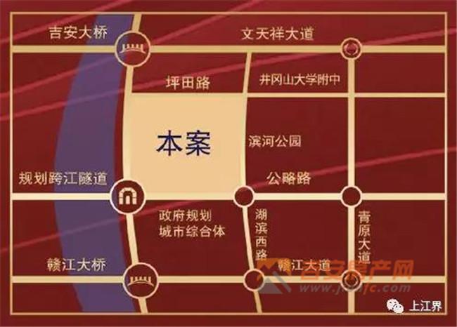 上江界区位图-吉安房产网