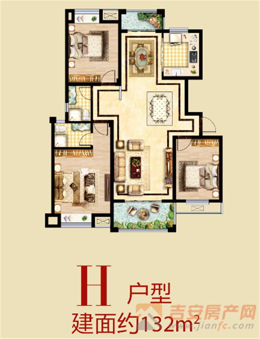 紫荆北苑户型图-吉安房产网