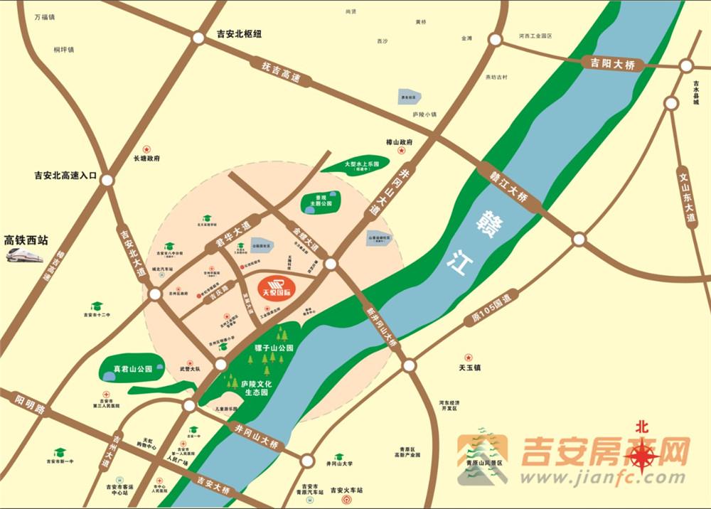 天悦国际区位图-吉安房产网