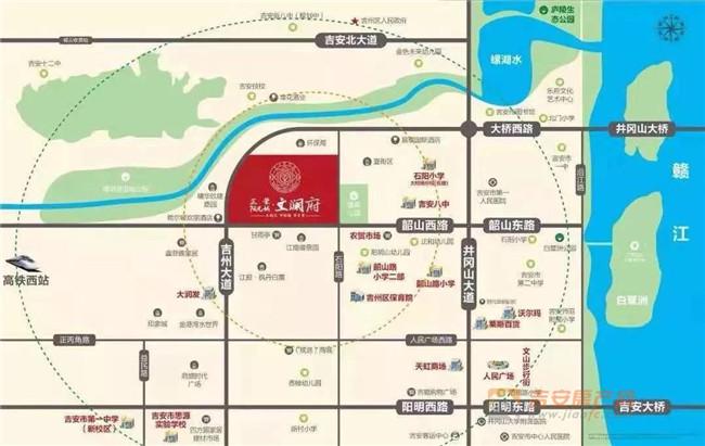正荣阳光城文澜府区位图-吉安房产网