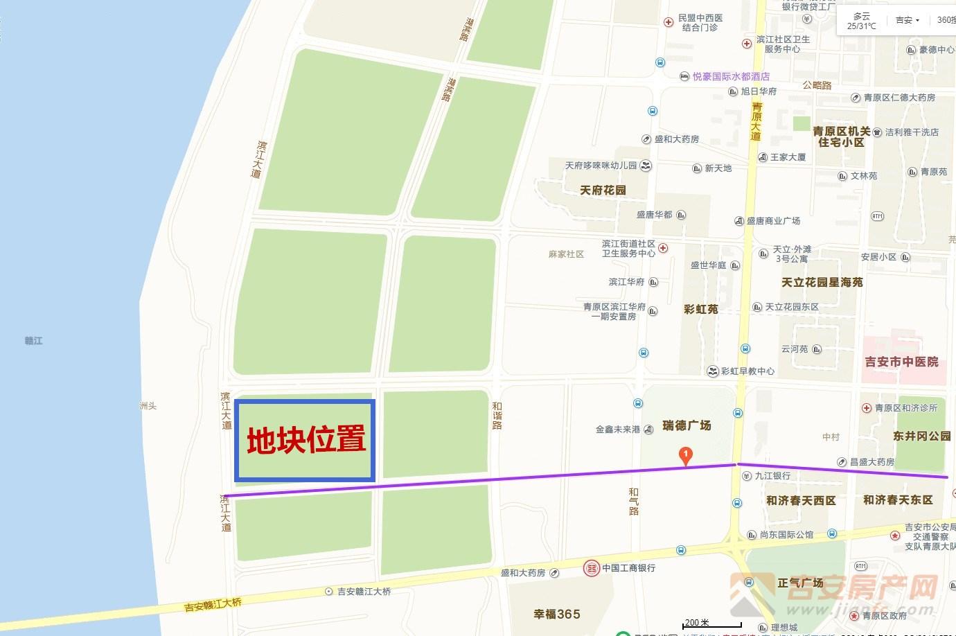 地块区位图-吉安房产网
