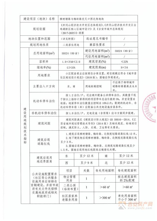 地块规划图-吉安房产网