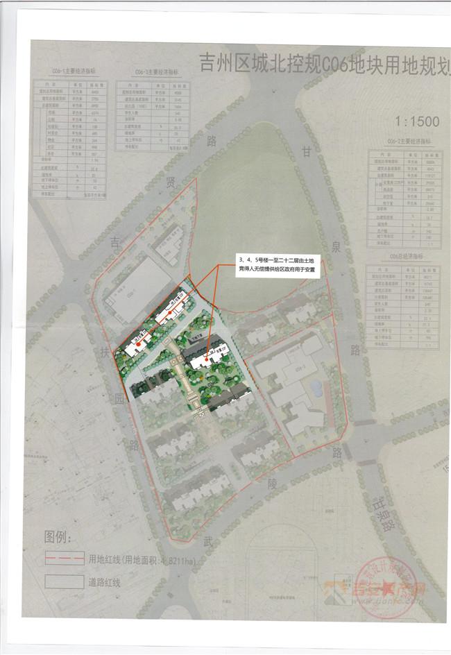 城北控规C06用地规划-吉安房产网