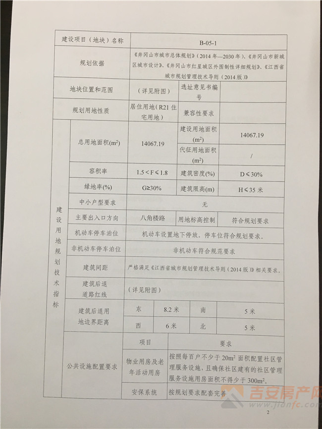 规划条件-吉安房产网
