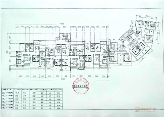 安置楼2#楼标准层面图-吉安房产网