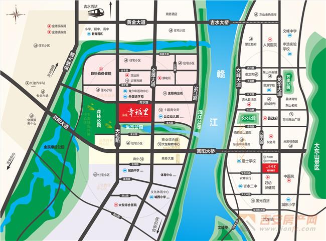 鑫华城·幸福里区位图-吉安房产网