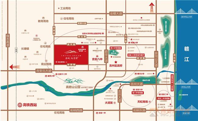 吉安房产网-浩城·太学府周边交通图