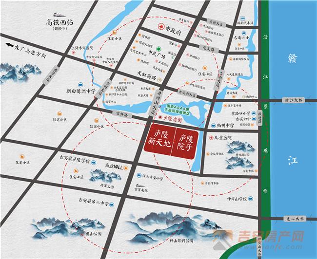 吉安房产网-庐陵院子交通图