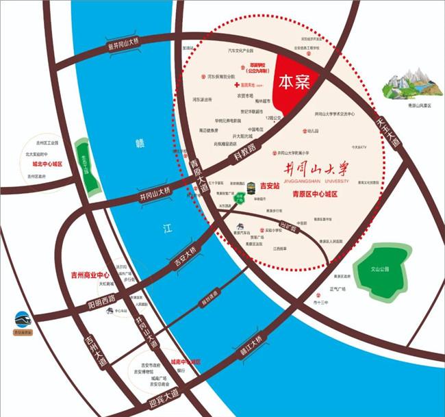 吉安房产网-江山里区位图